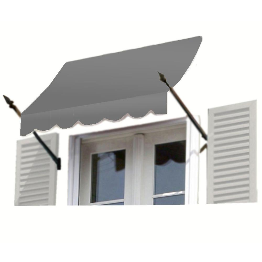 AWNTECH 10 ft. New Orleans Awning (44 in. H x 24 in. D) in Gray