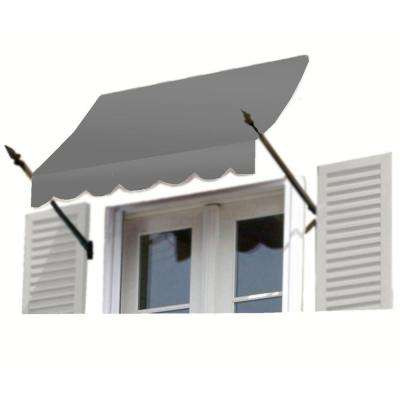 18 ft. New Orleans Awning (44 in. H x 24 in. D) in Gray