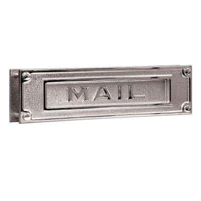 4000 Series 13.25 in. W x 3.5 in. H x 1.75 in. D Deluxe Solid Brass Mail Slot in Chrome Finish