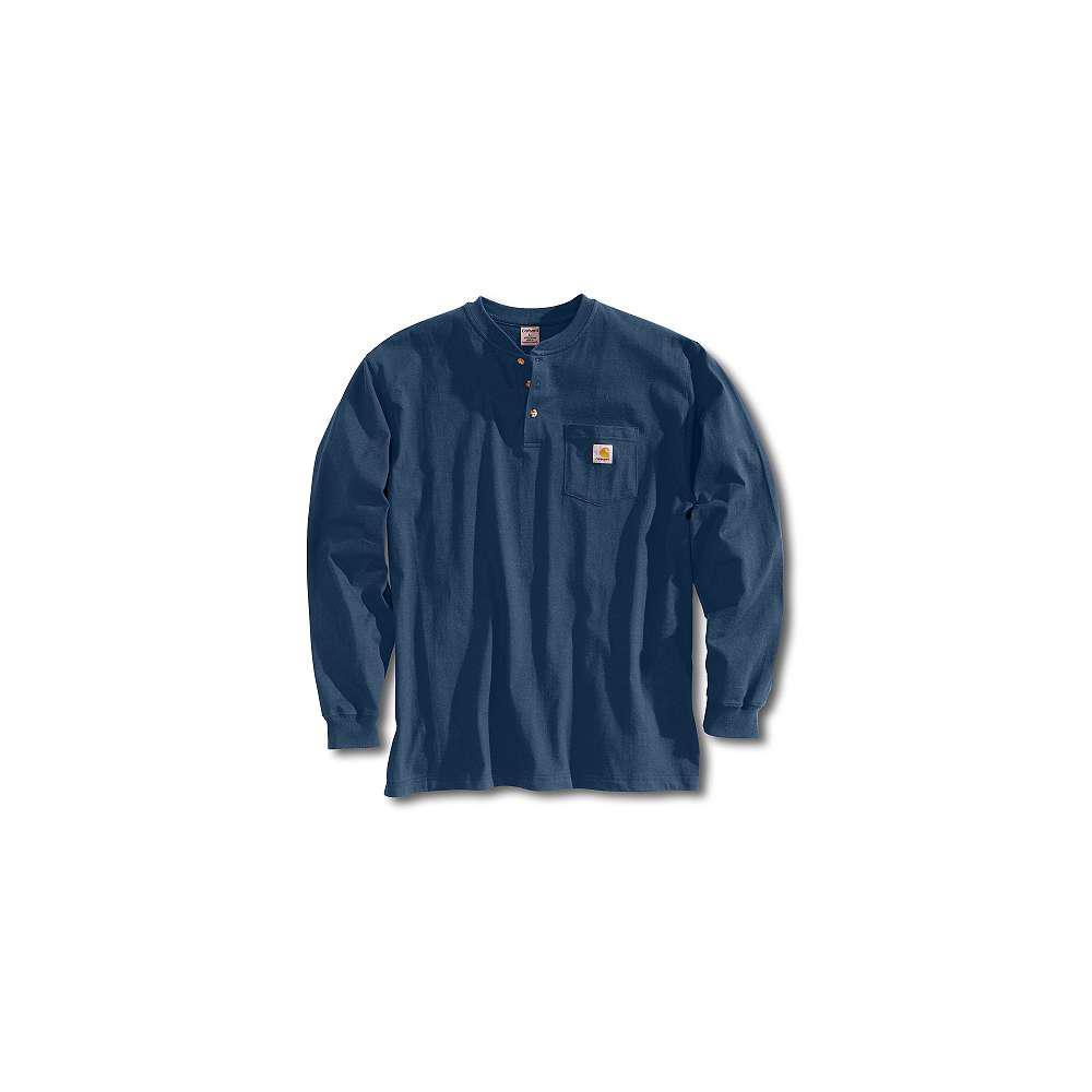 Men's Regular XX Large Navy Cotton Long-Sleeve T-Shirt