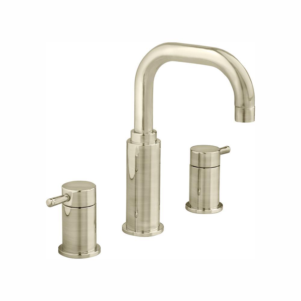 Serin 8 in. Widespread 2-Handle High-Arc Bathroom Faucet in Brushed Nickel