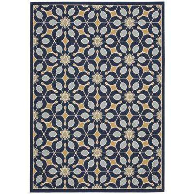 Caribbean Navy 9 ft. x 13 ft. Indoor/Outdoor Area Rug