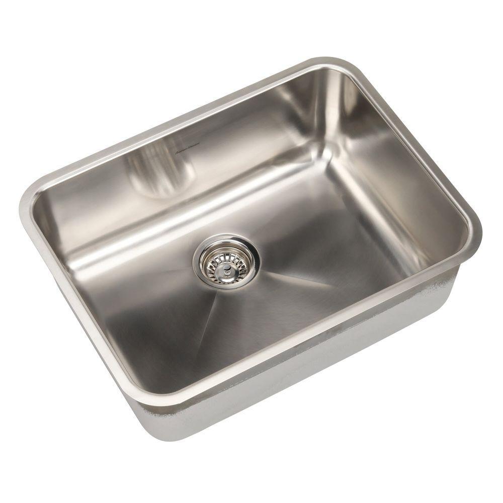 american standard prevoir undermount brushed stainless steel 23 75 in  0 hole basin single bowl american standard prevoir undermount brushed stainless steel 23 75      rh   homedepot com