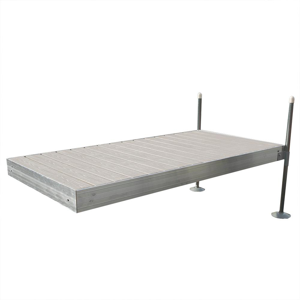 Tommy Docks 8 ft. Long Straight Aluminum Frame with Decking Complete ...
