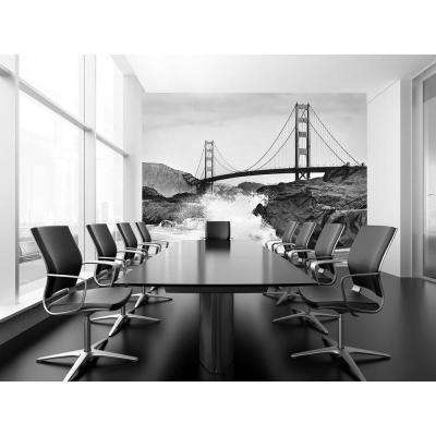 144 in. W x 100 in. H Golden Gate Bridge Wall Mural