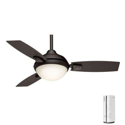 Verse 44 in. LED Indoor/Outdoor Maiden Bronze Ceiling Fan with remote