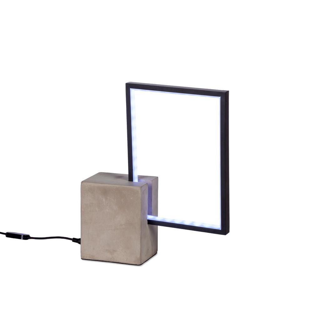 Modern 11.25 in. H Black Metal LED Table Desk Lamp