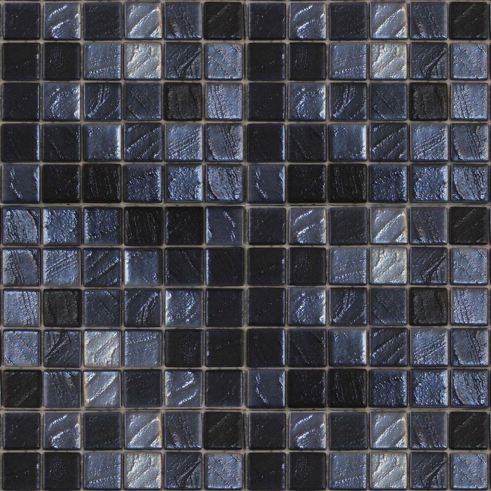 Metalz Galena-1013 Mosaic Recycled Glass 12 in. x 12 in. Mesh
