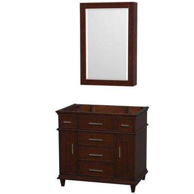 Berkeley 36 in. Vanity with Medicine Cabinet in Dark Chestnut