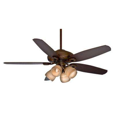 Capistrano Gallery 52 in. Indoor Acadia Ceiling Fan with 4-Speed Wall Mount Control