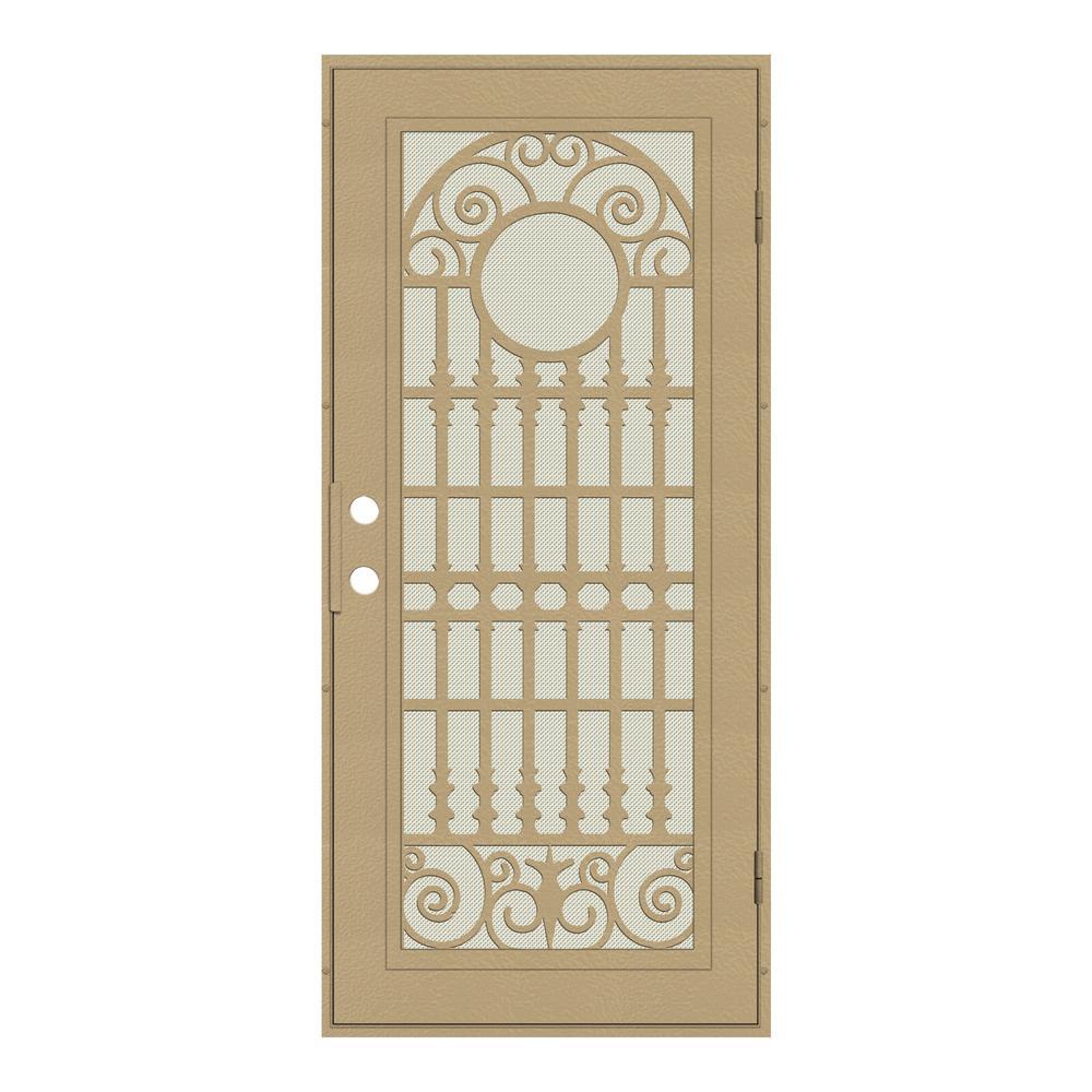 aluminum security screen door. Unique Home Designs 30 In. X 80 Spaniard Desert Sand Right-Hand Aluminum Security Screen Door F