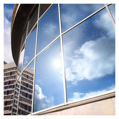 24 in. x 100 ft. EXS15 Exterior Daytime Privacy and Sun Control One Way Mirror Silver 15 (Dark) Window Film