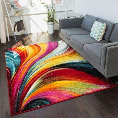 Viva Pleasure Multi 8 Ft X 10 Contemporary Area Rug
