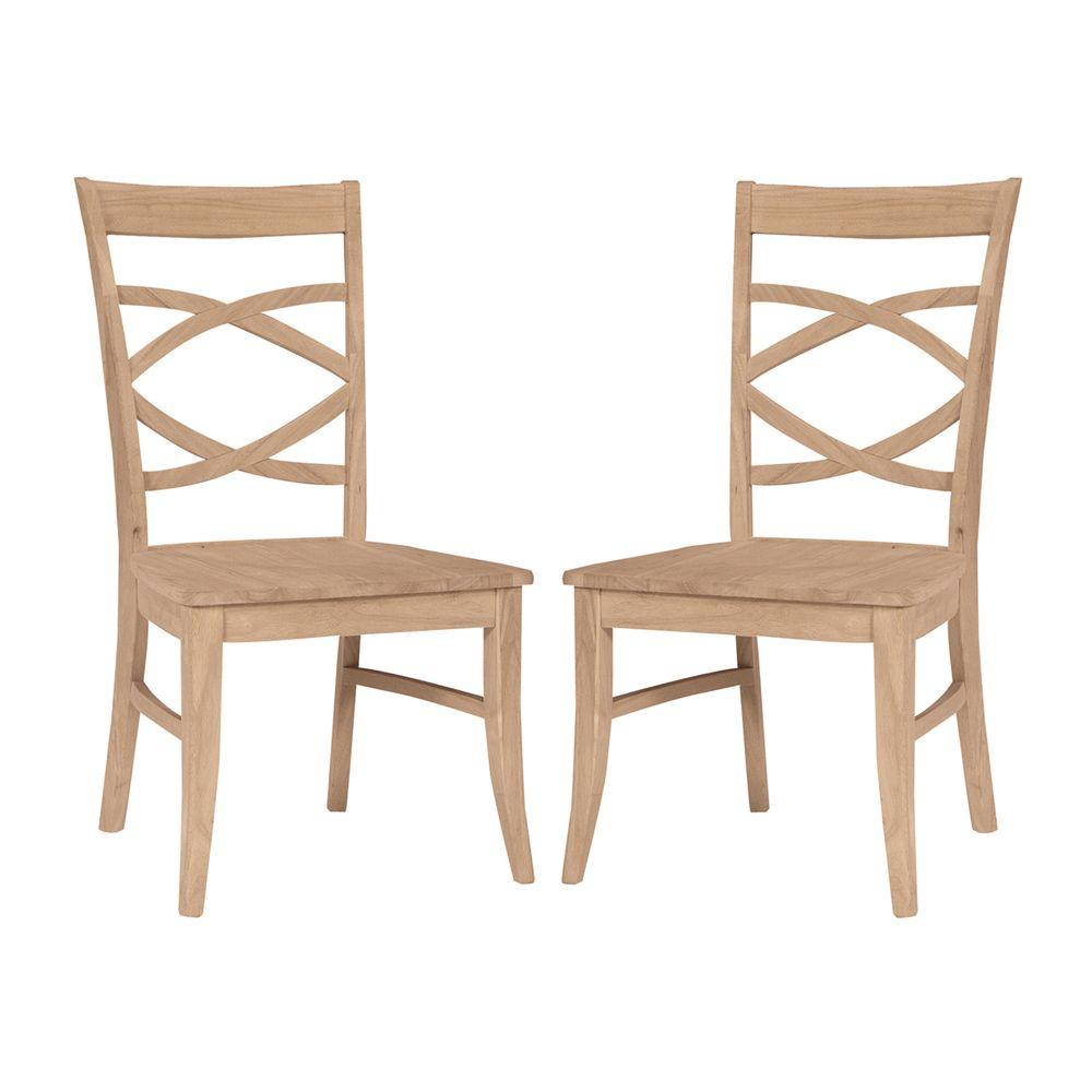 Unfinished Dining Room Chairs: International Concepts Milano Unfinished Wood Side Chair