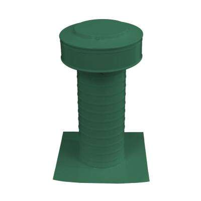 5 in. Dia Keepa Vent an Aluminum Static Roof Vent for Flat Roofs in Green
