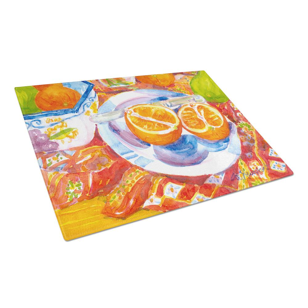 Florida Oranges Sliced for breakfast Tempered Glass Large Cutting Board