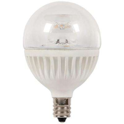 60W Equivalent Soft White G16 1/2 Dimmable LED Light Bulb