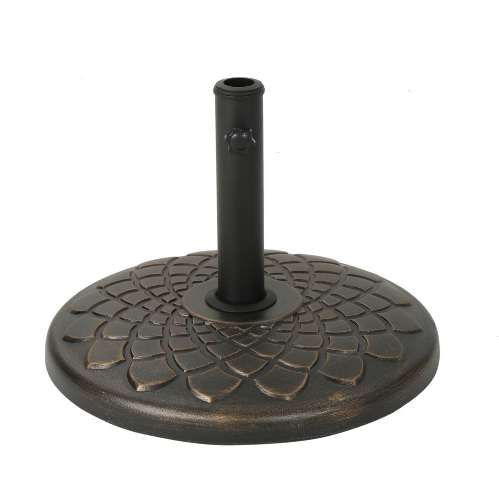Jayla 57.89 lbs. Concrete Patio Umbrella Base in Hammered Dark Copper
