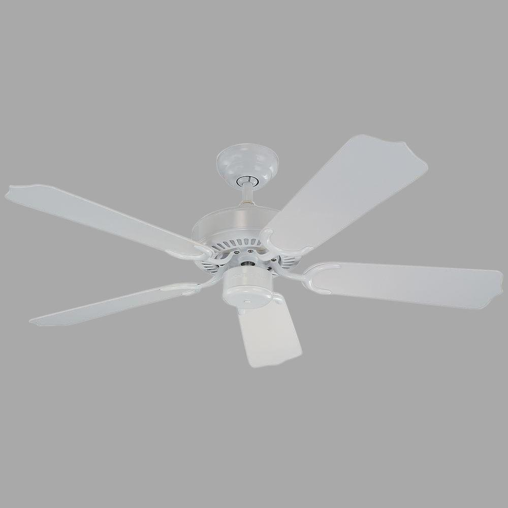 Monte Carlo Weatherford II 42 in. White Ceiling Fan with ABS Blades