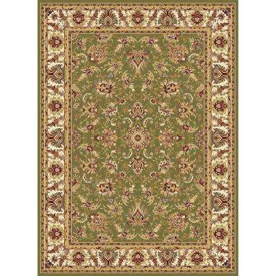 Williams Collection Ararat Green 7 ft. 10 in. x 10 ft. 10 in. Area Rug