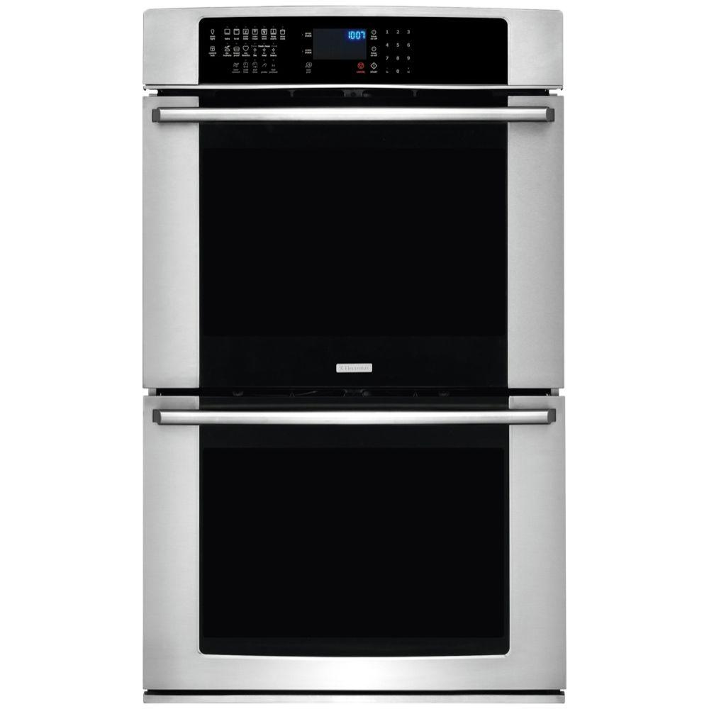 Electrolux IQ-Touch 27 in. Double Electric Wall Oven Self-Cleaning with Convection in Stainless Steel