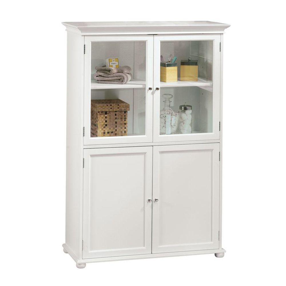 Bathroom Linen Cabinets Amazon Amazoncom Frosted Pane Shelf White ...