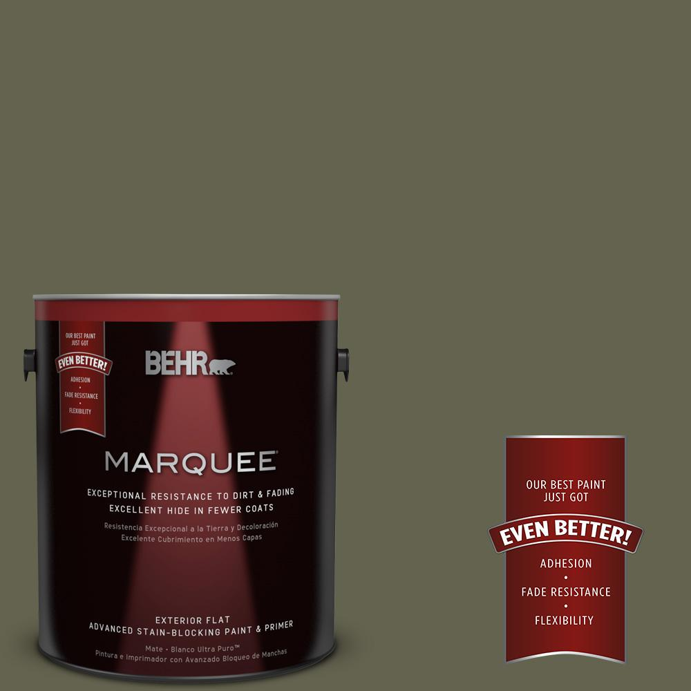 BEHR MARQUEE 1-gal. #N350-7 Russian Olive Flat Exterior Paint