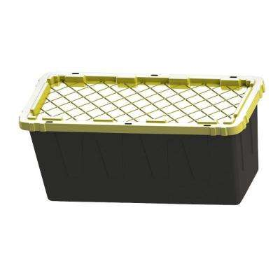 55 Gal. Storage Tote in Black