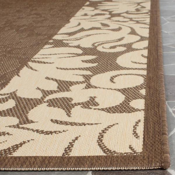 Reviews For Safavieh Courtyard Chocolate Natural 7 Ft X 7 Ft Indoor Outdoor Square Area Rug Cy2727 3409 7sq The Home Depot
