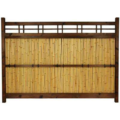 47 in. Bamboo Garden Fence