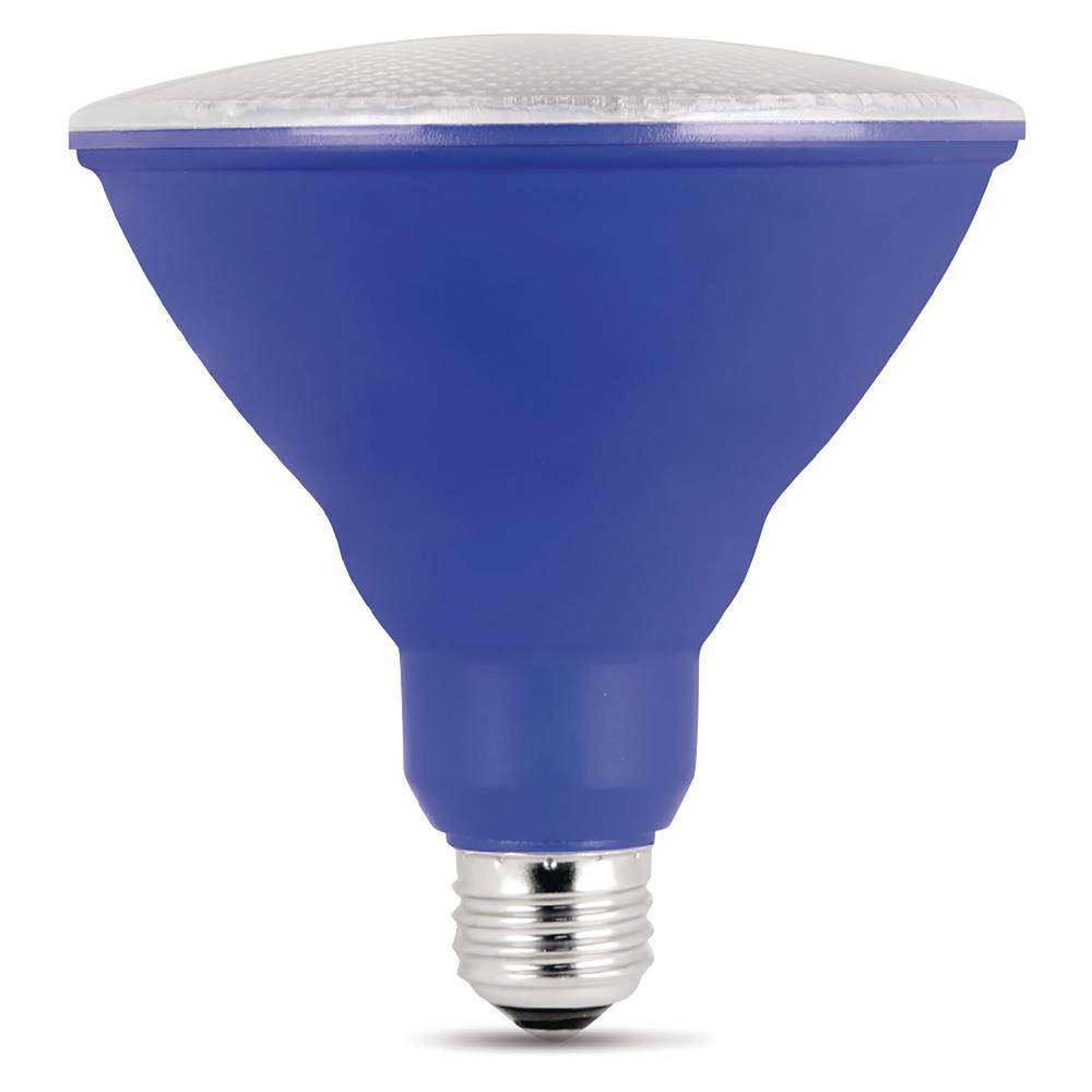 90W Equivalent Blue PAR38 Spot LED Light Bulb (Case of 4)