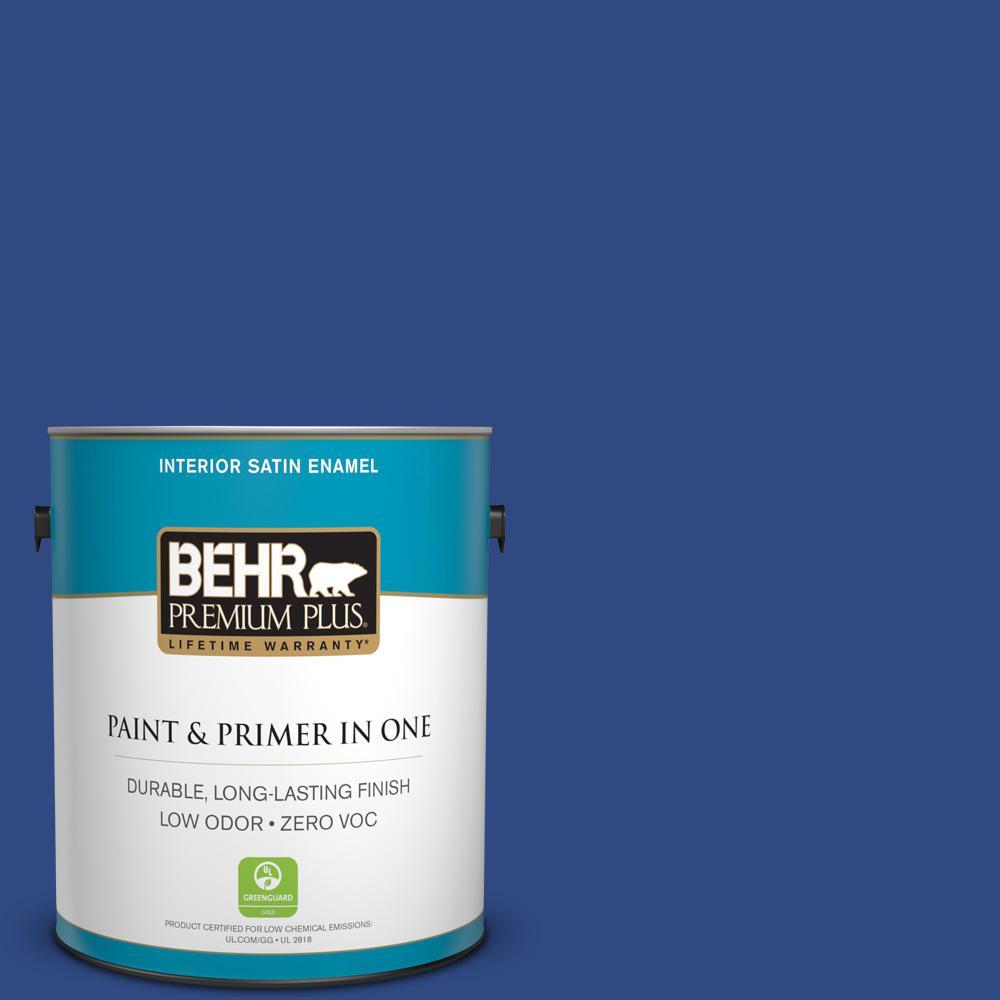 BEHR Premium Plus 1-gal. #P530-7 Tanzanite Satin Enamel Interior Paint