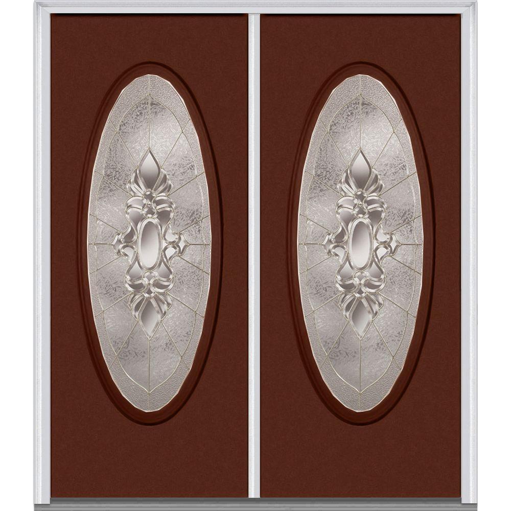 60 in. x 80 in. Heirloom Master Left-Hand Inswing Oval Lite