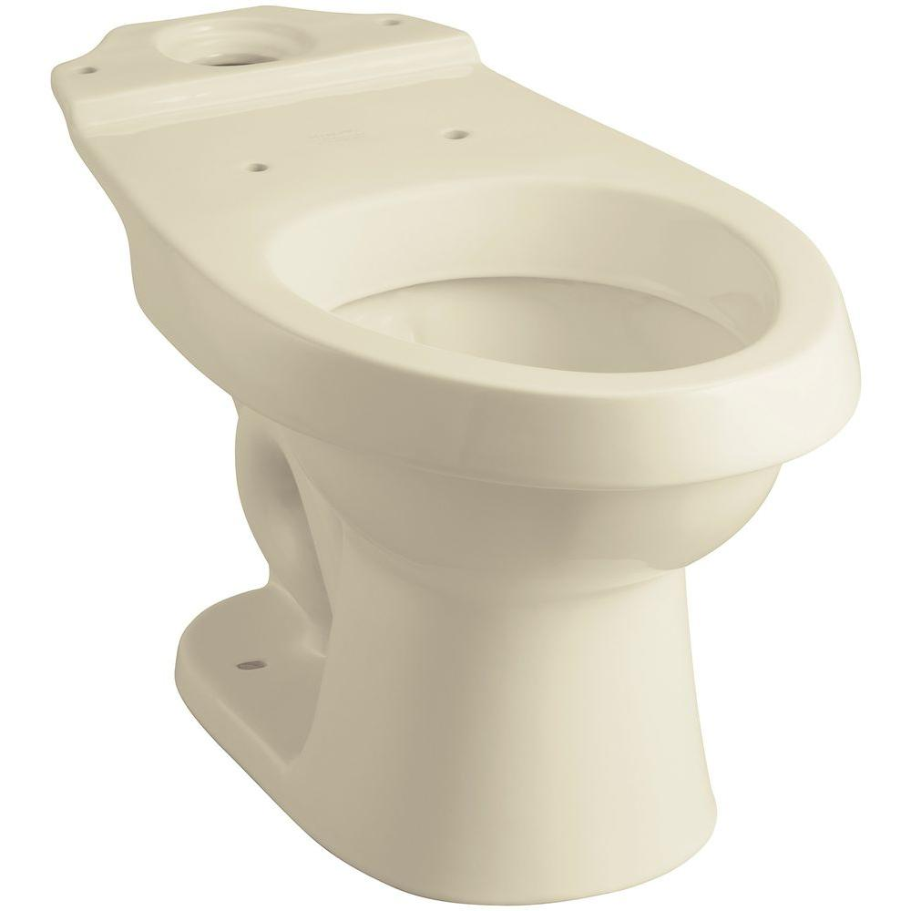 STERLING Rockton Elongated Toilet Bowl Only in Biscuit
