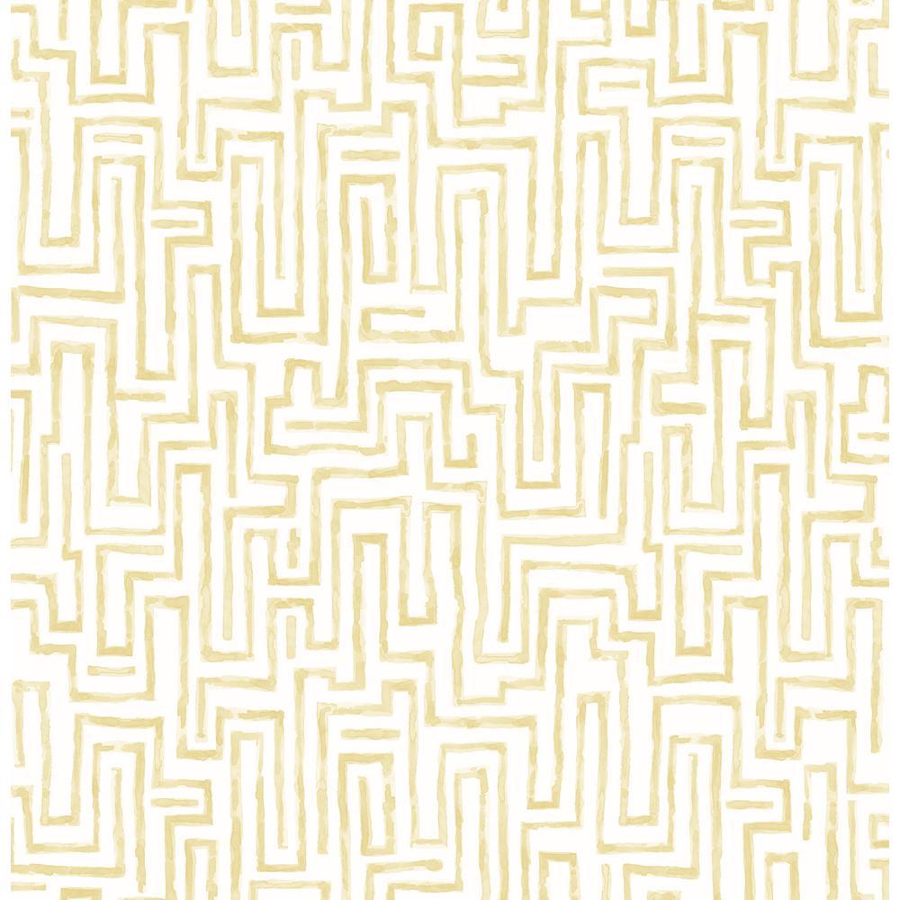 Ramble Mustard Geometric Wallpaper