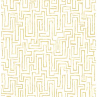 Ramble Mustard Geometric Paper Strippable Roll (Covers 56.4 sq. ft.)