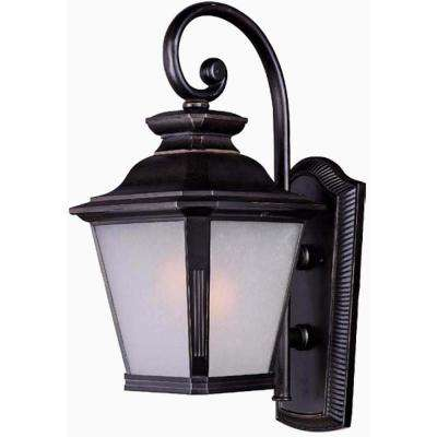 Knoxville 11 in. W 1-Light Bronze Outdoor Wall Lantern Sconce