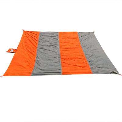 7 ft. Orange and Gray Nylon Pocket Blanket