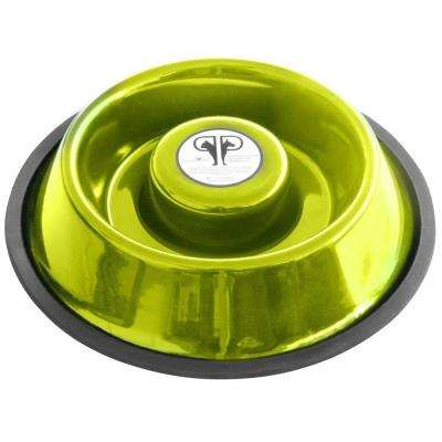 Large Stainless Steel Slow Eating Bowl in Lime