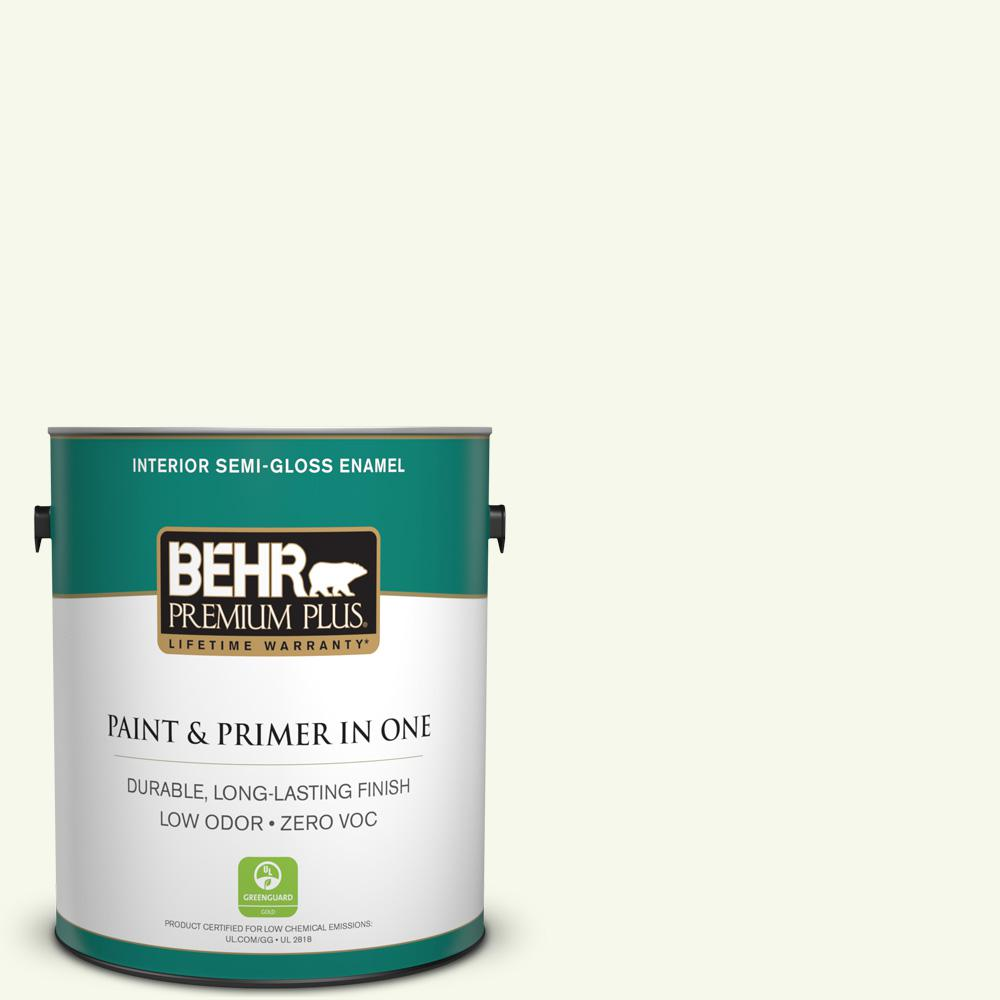 1-gal. #BXC-29 Stately White Semi-Gloss Enamel Interior Paint