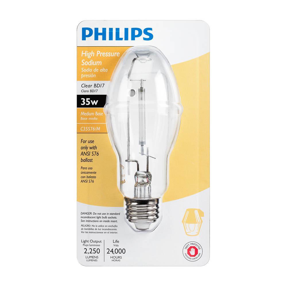 Hid Light Bulbs >> Philips 35 Watt Bd17 Hid Ceramalux High Pressure Sodium High