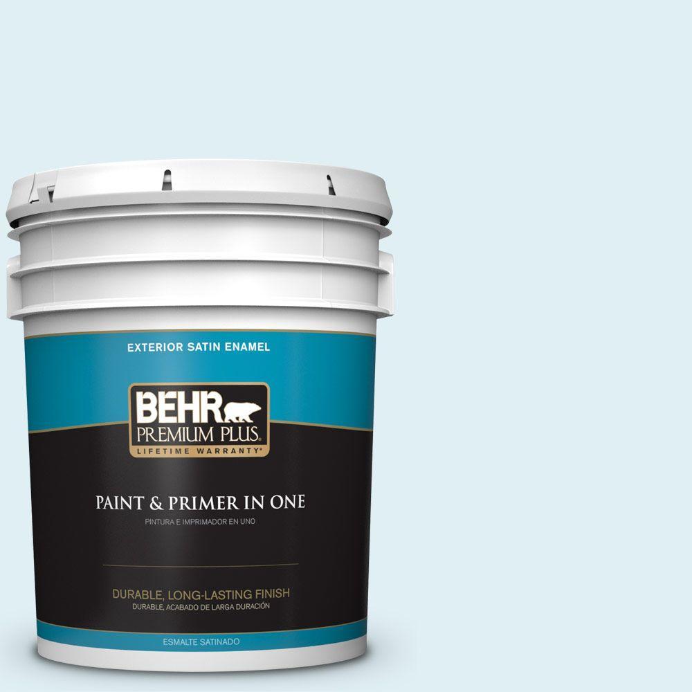 BEHR Premium Plus 5-gal. #M480-1 Helium Satin Enamel Exterior Paint
