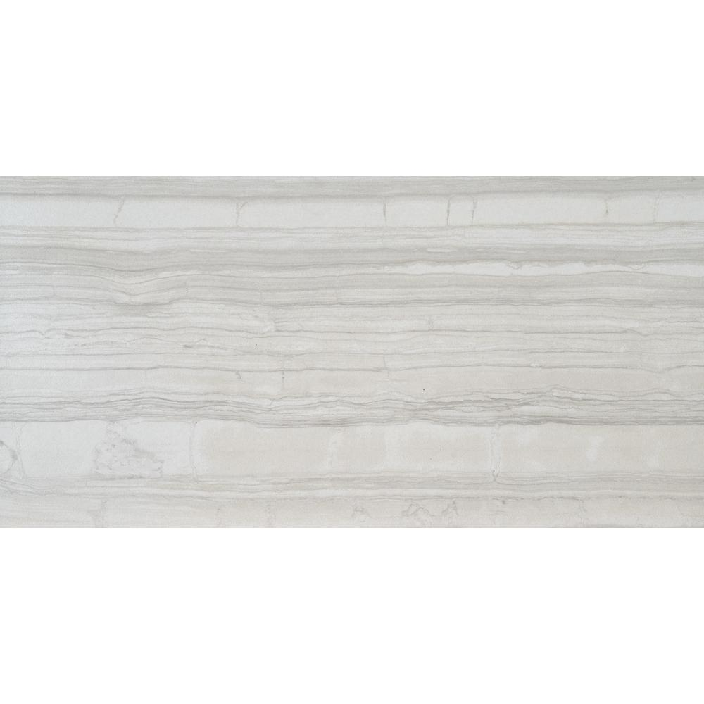 Sophie White 12 In X 24 Glazed Porcelain Floor And