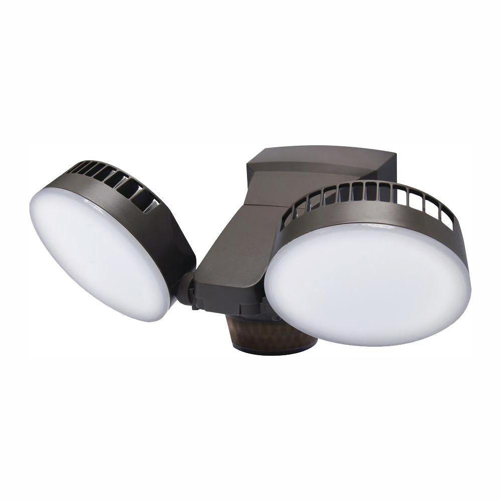 270 Degree Bronze Integrated LED Outdoor Motion Sensor Light