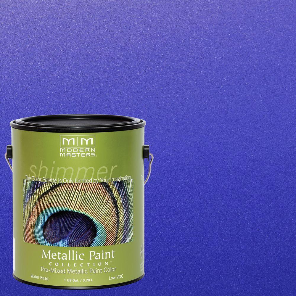 Venetian Blue Metallic Interior/Exterior Paint ME429GAL   The Home Depot