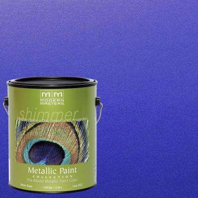 1 gal. Venetian Blue Water-Based Satin Metallic Interior/Exterior Paint
