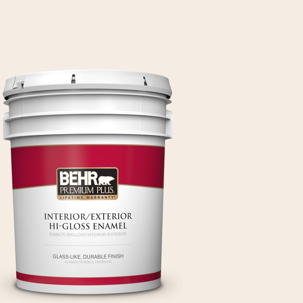 5 gal. #PPU5-09 Bleached Linen Hi-Gloss Enamel Interior/Exterior Paint