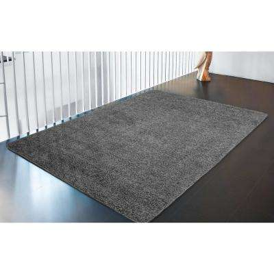 Luxury Shaggy Collection Shag Solid Design Gray 5 ft. x 7 ft. Area Rug