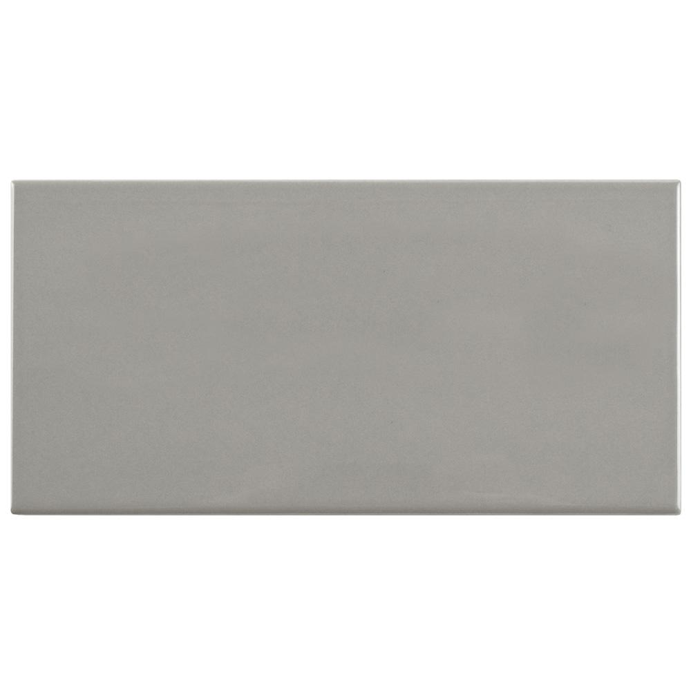 Merola Tile Park Slope Subway Warm Grey 3 in. x 6 in. Ceramic Wall Tile (36 cases / 690.48 sq. ft. / pallet)