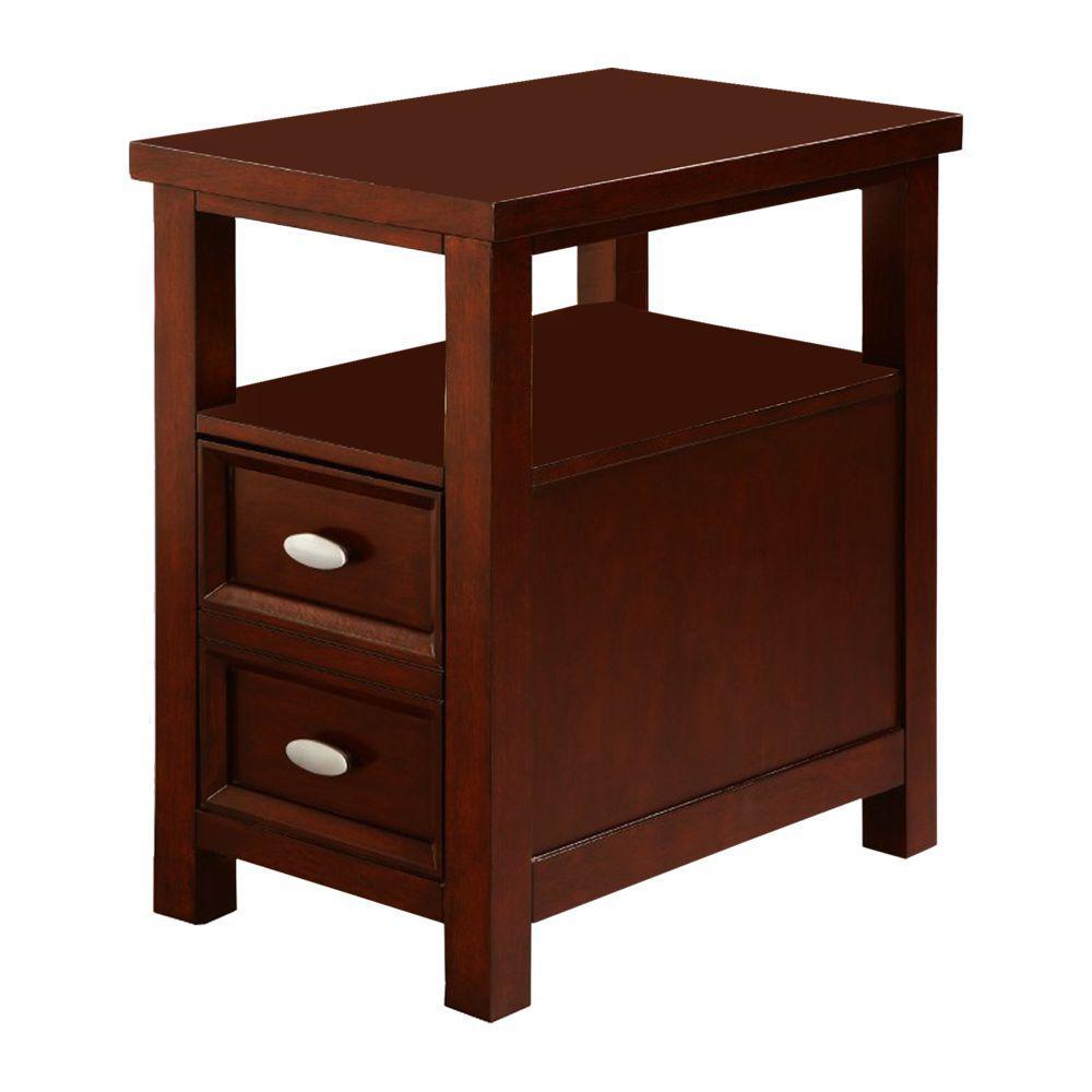Brown Spacious Chair Side Table